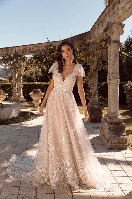 Hochzeitskleid Spitze Tüll