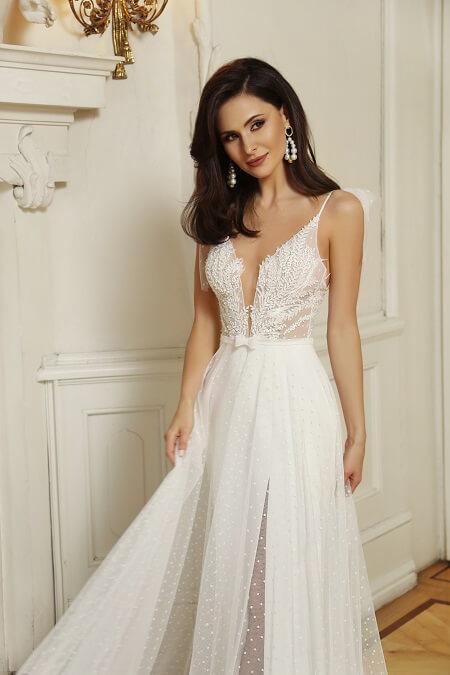 Hochzeitskleid kleine Frau
