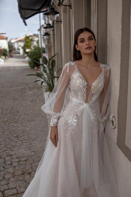 Hochzeitskleid mit langen Ärmeln Geschäft München