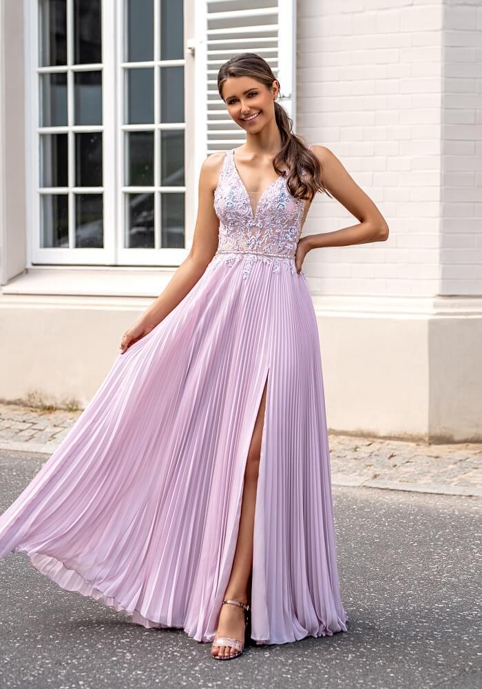Abendkleid pink weiss München