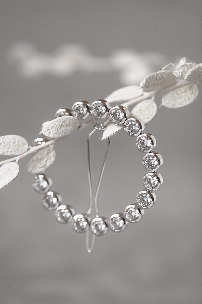 Haarschmuck, Haarclip mit Kristallen, Silberschmuck für die Braut