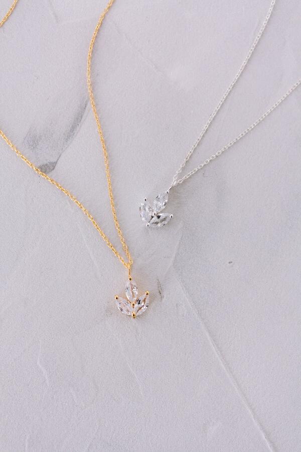 Halskette, Goldkette, Kristallkette, Silberkette Hochzeit