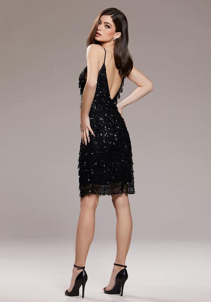 Kleid schwarz schulterfrei