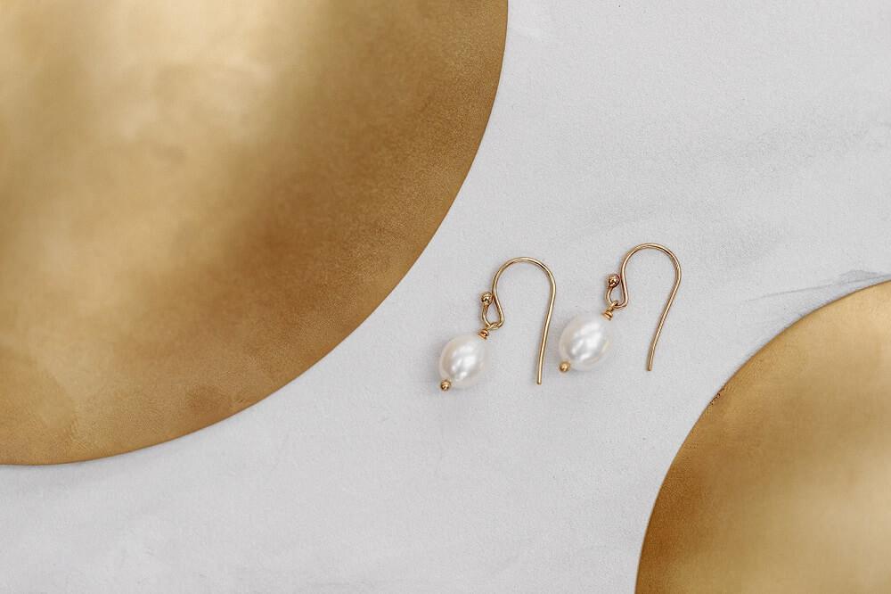 Ohrringe, Perlenohrringe, Ohrringe aus Süsswasserperlen, Brautschmuck