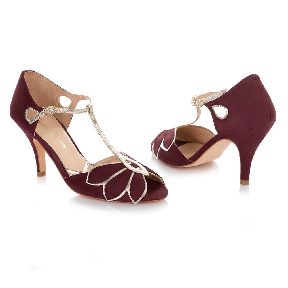 Rote Schuhe für Hochzeitskleid