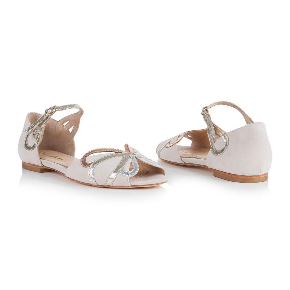 flache Schuhe Hochzeitskleid