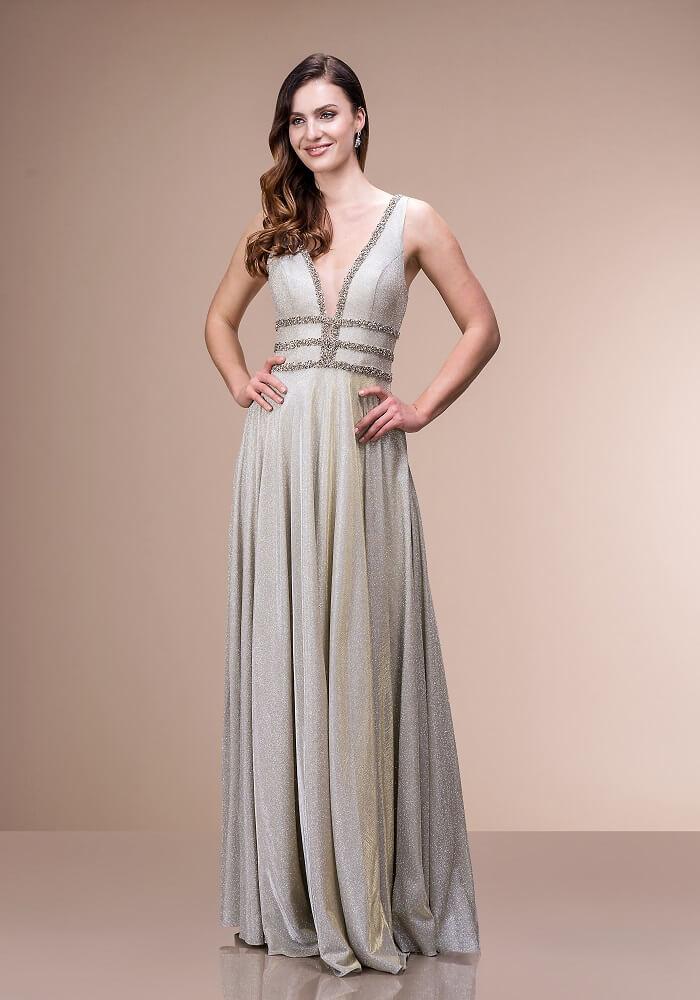 silbernes Abendkleid in München kaufen